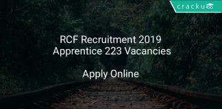 RCF Recruitment 2019 Apprentice 223 Vacancies