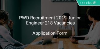 PWD Recruitment 2019 Junior Engineer 218 Vacancies