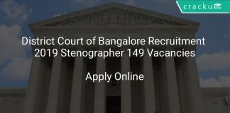 District Court of Bangalore Recruitment 2019 Stenographer 149 Vacancies