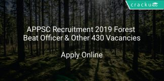 APPSC Recruitment 2019 Forest Beat Officer & Other 430 Vacancies