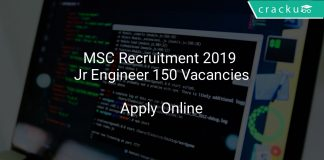 MSC Recruitment 2019 Junior Engineer 150 Vacancies