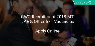 CWC Recruitment 2019 MT , AE & Other 571 Vacancies