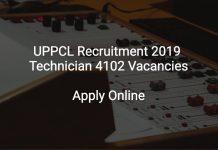 UPPCL Recruitment 2019 Technician (Line) 4102 Vacancies