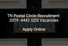 TN Postal Circle Recruitment 2019 4442 GDS Vacancies