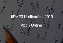 JIPMER Notification 2019
