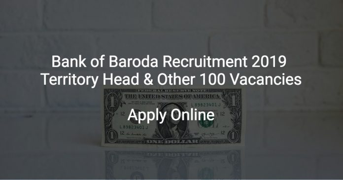 Bank of Baroda Recruitment 2019 Sr Relationship Manager & Other 100 Vacancies