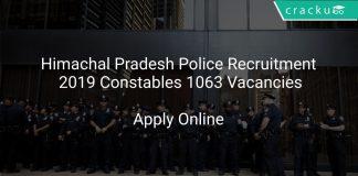 Himachal Pradesh Police Recruitment 2019 Constables 1063 Vacancies