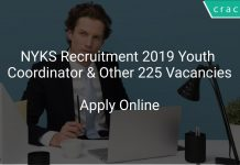 NYKS Recruitment 2019 Youth Coordinator & Other 225 Vacancies
