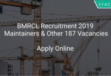 BMRCL Recruitment 2019 Maintainers & Other 187 Vacancies