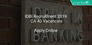 IDBI Recruitment 2019 CA 40 Vacancies