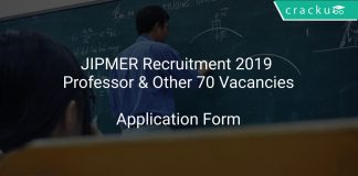 JIPMER Recruitment 2019 Professor & Other 70 Vacancies