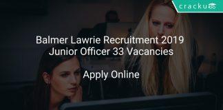 Balmer Lawrie Recruitment 2019 Junior Officer 33 Vacancies