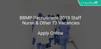 BBMP Recruitment 2019 Staff Nurse & Other 73 Vacancies