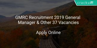 GMRC Recruitment 2019 General Manager & Other 37 Vacancies