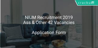 NIUM Recruitment 2019 Assistant & Other 42 Vacancies
