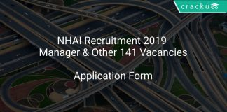 NHAI Recruitment 2019 Manager & Other 141 Vacancies