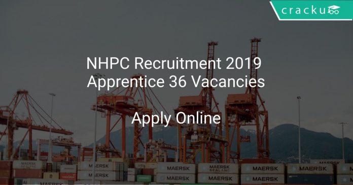 NHPC Recruitment 2019 Apprentice 36 Vacancies