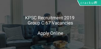 KPSC Recruitment 2019 Group C 67 Vacancies