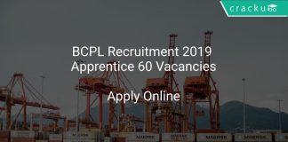 BCPL Recruitment 2019 Apprentice 60 Vacancies