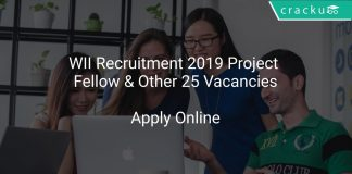 WII Recruitment 2019 Project Fellow & Other 25 Vacancies