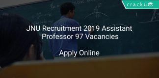 JNU Recruitment 2019 Assistant Professor 97 Vacancies