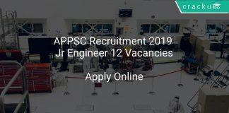 APPSC Recruitment 2019 Jr Engineer 12 Vacancies