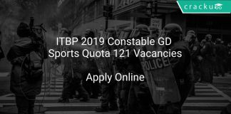 ITBP 2019 Constable GD, Sports Quota 121 Vacancies