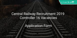 Central Railway Recruitment 2019 Controller 16 Vacancies