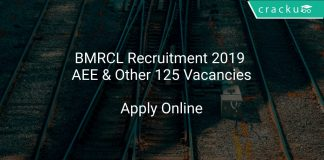 BMRCL Recruitment 2019 AEE & Other 125 Vacancies