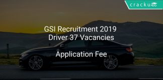 GSI Recruitment 2019 Driver 37 Vacancies