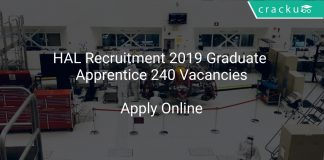 HAL Recruitment 2019 Graduate Apprentice 240 Vacancies