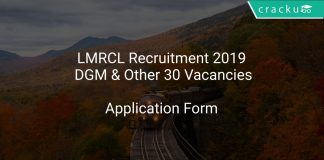 LMRCL Recruitment 2019 DGM & Other 30 Vacancies