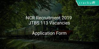 NCR Recruitment 2019 JTBS 113 Vacancies