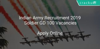 Indian Army Recruitment 2019 Soldier GD 100 Vacancies
