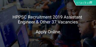 HPPSC Recruitment 2019 Assistant Engineer & Other 37 Vacancies