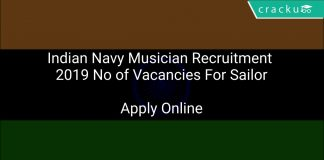 Indian Navy Musician Recruitment 2019 No of Vacancies For Sailor