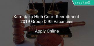 Karnataka High Court Recruitment 2019 Group D 95 Vacancies