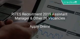 RITES Recruitment 2019 Assistant Manager & Other 26 Vacancies