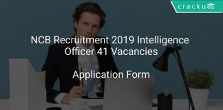 NCB Recruitment 2019 Intelligence Officer 41 Vacancies