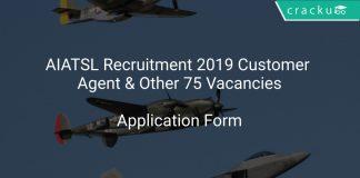 AIATSL Recruitment 2019 Customer Agent & Other 75 Vacancies