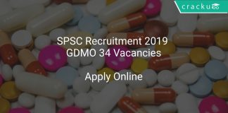 SPSC Recruitment 2019 GDMO 34 Vacancies