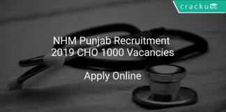NHM Punjab Recruitment 2019 CHO 1000 Vacancies
