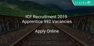 ICF Recruitment 2019 Apprentice 992 Vacancies