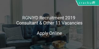 RGNIYD Recruitment 2019 Consultant & Other 11 Vacancies