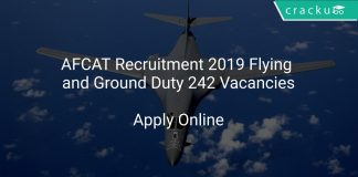 AFCAT Recruitment 2019 Flying and Ground Duty 242 Vacancies