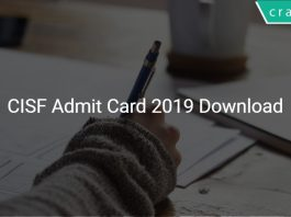 CISF Admit Card 2019 Download
