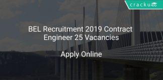 BEL Recruitment 2019 Contract Engineer 25 Vacancies