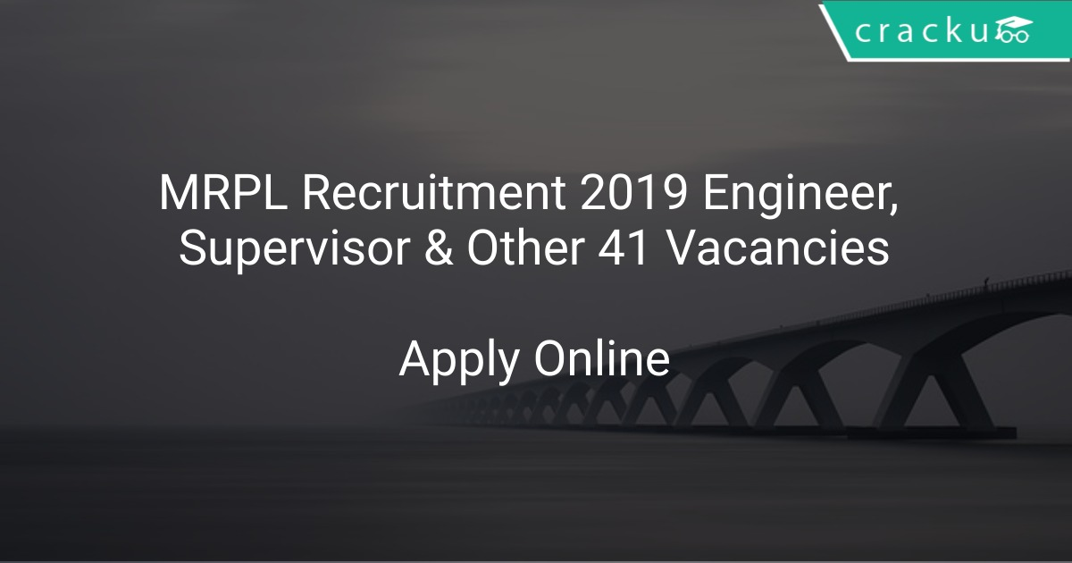 Image result for MRPL MANGALORE JOBS 2019 - APPLY FOR 41 MRPL ENGINEERS & EXECUTIVE VACANCY
