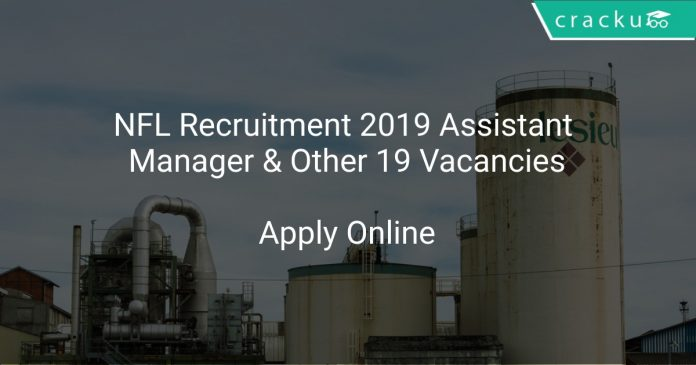 NFL Recruitment 2019 Assistant Manager & Other 19 Vacancies