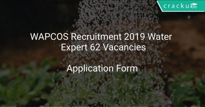 WAPCOS Recruitment 2019 Water Supply Expert 62 Vacancies
